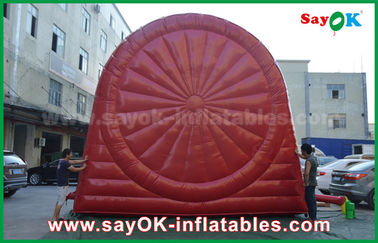 Jeux gonflables rouges drôles de sports/panneau de dard gonflable durable du football de PVC Tarpulin