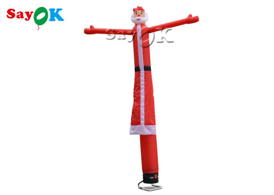 Un Noël 5m gonflable rouge Santa Air Dancer de jambe