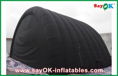 Tente gonflable imperméable noire d'air avec le tissu d'Oxford et revêtement de PVC pour Ourdoor