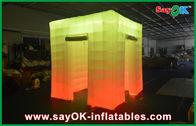 Cabine gonflable de photo de lumière de cube en porte d'ouverture 2 avec le dessus mené
