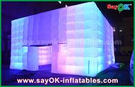 Le PVC extérieur a enduit la tente gonflable de cube géant du ventilateur de lumière/de changement de couleur