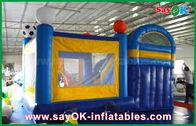 Petit glisseur 4x3m gonflable de château de rebond de PVC avec le football Decoratiionn