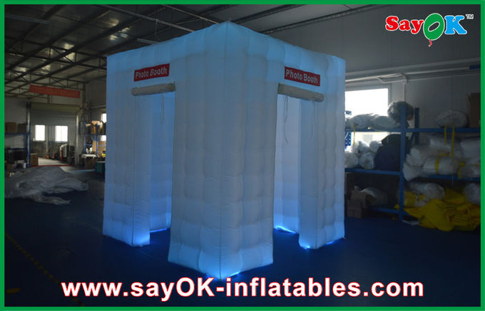 Cube portatif Photobooth gonflable 2.4x2.4x2.5m avec la tente de LED