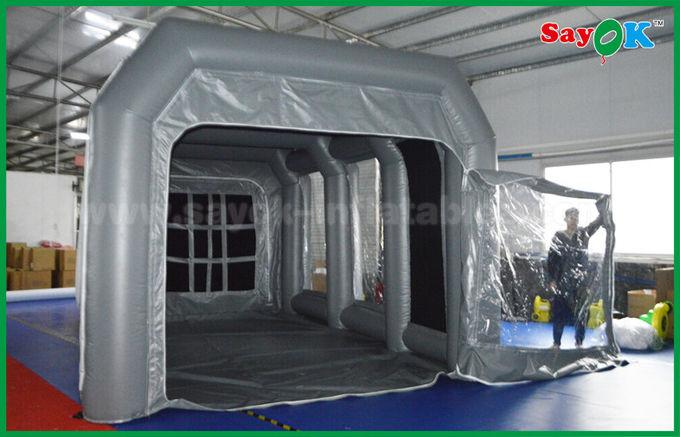 cabine gonflable de peinture de jet de grand poste de travail drive in gonflable gris de tente. Black Bedroom Furniture Sets. Home Design Ideas