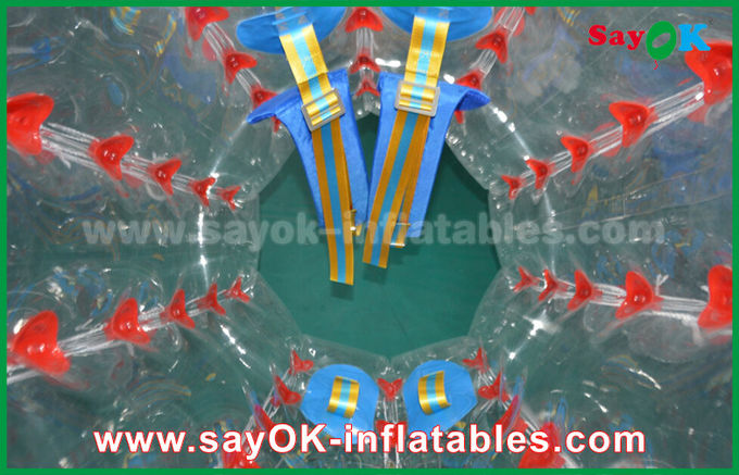 Grand football gonflable rouge/bleu transparent 1.5m de bulle de jeux de sports pour camper